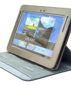 Samsung Galaxy Tab 2 10.1 Nubuck Stand Cover Antraciet