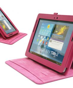 Samsung Galaxy Tab 2 10.1 Nubuck Stand Cover Roze