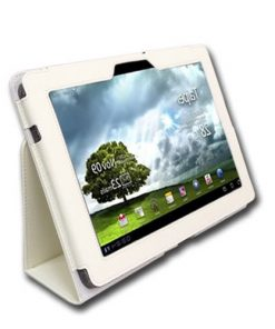 Asus TF 101 Lederen Stand Cover Wit