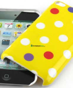 IPod Touch 4G Polka Dot Hoesje Geel mixed