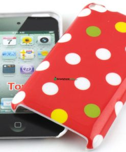 IPod Touch 4G Polka Dot Hoesje rood mixed