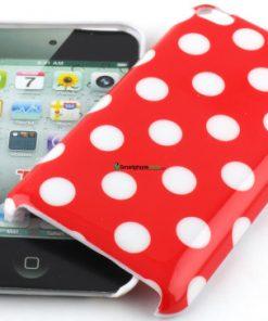 IPod Touch 4G Polka Dot Hoesje rood