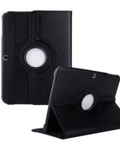 Samsung Galaxy Tab 3 10.1 PU-Lederen 360 Cover Zwart