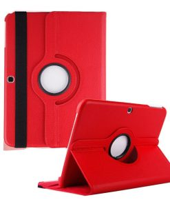 Samsung Galaxy Tab 3 10.1 PU-Lederen 360 Cover Rood