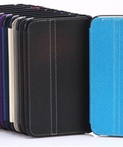 Samsung Galaxy Tab 3 7.0 Lederen Stand Cover Zwart (exclusief styluspen)