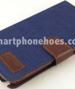 Samsung Galaxy Note 3 (N9000) Hoesje Jeans Style Donker Blauw