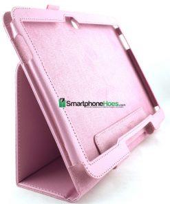 Samsung Galaxy Tab 3 10.1 Licht Roze PU-Lederen Stand Hoes
