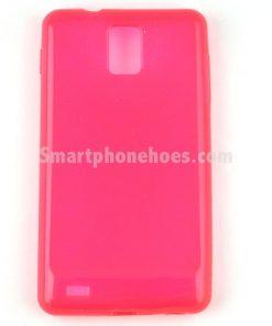 Samsung Galaxy Note 3 Hoesje Transparant Roze