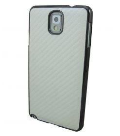 Samsung Galaxy Note 3 hoesje Carbon Fiber Wit