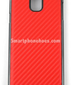 Samsung Galaxy Note 3 hoesje Carbon Fiber Rood