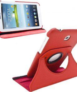 Samsung Galaxy Tab 4 8.0 PU-Lederen 360 Cover Rood