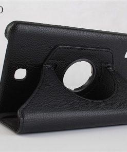 Samsung Galaxy Tab 4 7.0 PU-Lederen 360 Cover Zwart