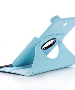 Samsung Galaxy Tab 4 8.0 PU-Lederen 360 Cover Licht Blauw