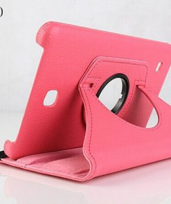 Samsung Galaxy Tab 4 7.0 PU-Lederen 360 Cover Roze