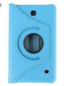 Samsung Galaxy Tab 4 7.0 PU-Lederen 360 Cover Licht Blauw