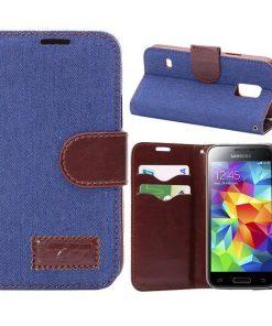 Samsung Galaxy S5 mini hoesje Jeans Style Blauw