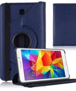 Samsung Galaxy Tab 4 8.0 PU-Lederen 360 Cover Blauw.