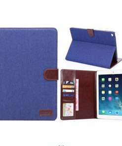 iPad Air 2 Cover Jeans Style Blauw