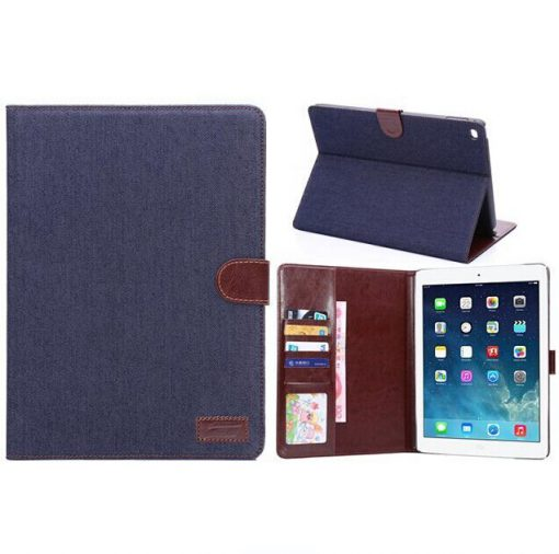 iPad Air 2 Cover Jeans Style Donker Blauw