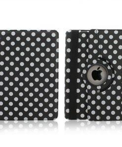 iPad Mini Polka Dots 360 Cover Zwart.