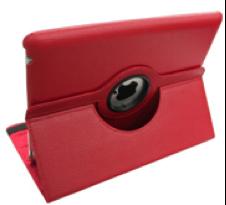 iPad PU-Lederen 360 Cover Rood-0