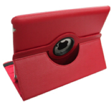iPad Air PU-Lederen 360 Cover Rood