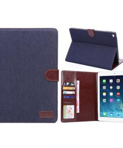 iPad Cover Jeans Style Donker Blauw