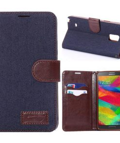 Samsung Galaxy Note 4 Jeans Style Donker Blauw