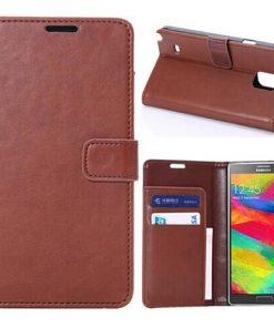 Samsung Galaxy Note 4 PU-Lederen Wallet Case Bruin.