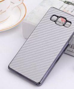Samsung Galaxy A7 Hoesje Carbon Zilverkleurig
