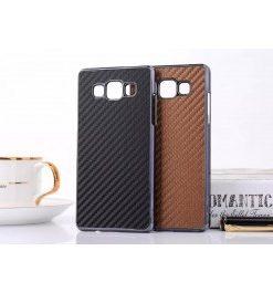 Samsung Galaxy A7 Hoesje Carbon Zwart.
