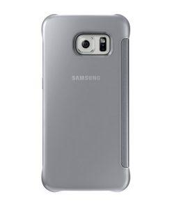 Samsung Clear View Cover Silver Samsung Galaxy S6 Edge