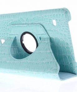Samsung Galaxy Tab 4 8.0 Turquoise 360° draaibare krokodil tablethoes
