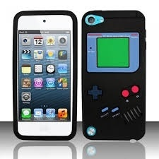 iPod Touch 5/6 Gameboy Hoesje Siliconen Zwart
