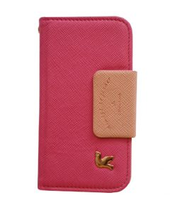 Apple iPhone 5/5S Trendy booktype hoes Roze/Zalm