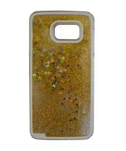 Samsung Galaxy S6 Glitter Sterren Hoes Goud