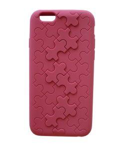 Apple iPhone 6 Puzzel Hoes DonkerRoze