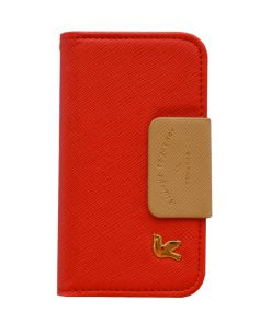 Apple iPhone 5/5S Trendy booktype hoes Rood/Bruin