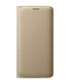 Samsung Flip Wallet Fabric Goud Samsung Galaxy S6 Edge