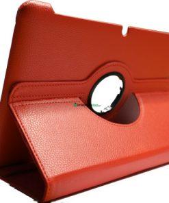 Samsung Galaxy Tab 10.1 PU-Lederen 360 Cover Rood