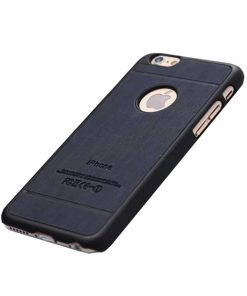 Apple iPhone 6 Luxe hout design hoes Donker blauw