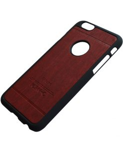 Apple iPhone 6 Luxe hout design hoes Rood