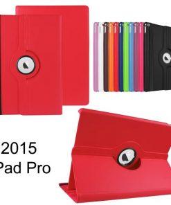 iPad Pro pu-lederen 360 Case Rood