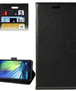 Samsung Galaxy A7 Hoesje PU-Lederen Wallet Zwart