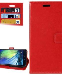 Samsung Galaxy A7 Hoesje PU-Lederen Wallet Rood