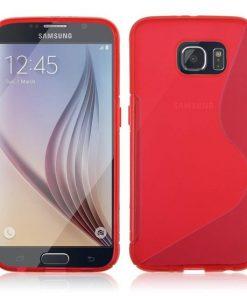 Samsung galaxy S6 Rood S-line TPU Hoesje