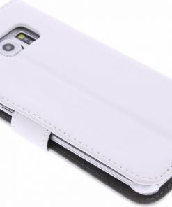 Celly Wally Samsung Galaxy S6 Edge Booktype Case - Wit