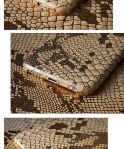 Apple iPhone 6 / 6S Slangen Design Hardcase Hoesje - Goud