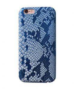 Apple iPhone 6 / 6S Slangen Design Hardcase Hoesje - Blauw
