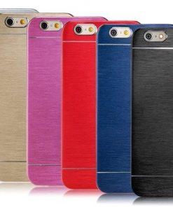 Apple iPhone 6 / 6S Plus Brushed Aluminium Hardcase Motomo